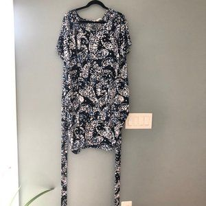 Michael Kors faux wrap paisly dress 3x